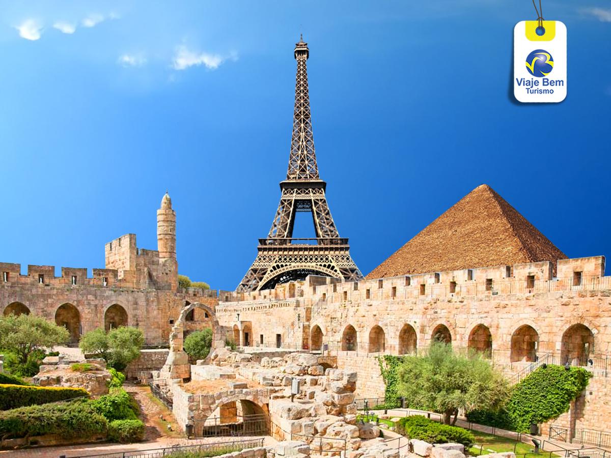 PARIS + EGITO  + ISRAEL + JORDÂNIA